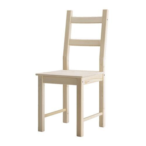 Unfinished wood chair from Ikea