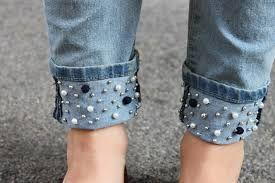 calças customizadas - barras com estilo