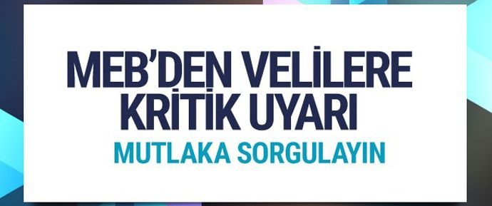 MEB Özel Öğretim Kurumları Genel Müdürü Kemal Şamlıoğlu izinsiz faaliyet gösteren eğitim kurumlarının önüne geçmek için velileri uyardı.