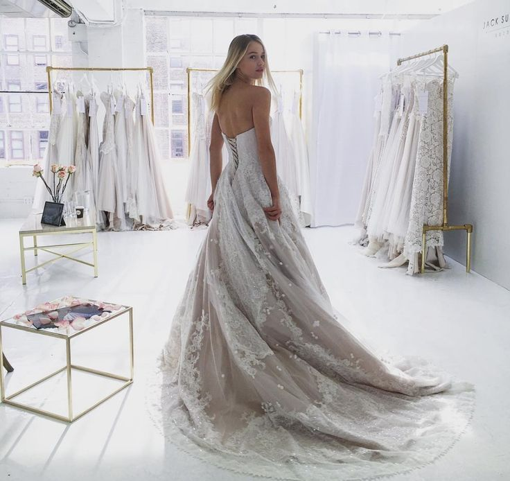 Hannah by Jack Sullivan. This Australian Designer gown is available in store.
