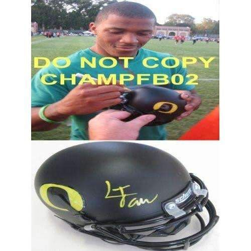 Lamichael James, Oregon Ducks, San Francisco 49ers, Niners, Signed, Autographed, Mini Helmet, a COA with the Proof Photo of Lamichael Signing Will Be Included