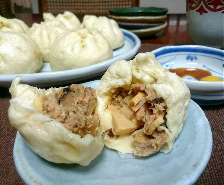 sakurako's dish photo 我が家の定番豚まん めざせ 老祥記 | http://snapdish.co #SnapDish #レシピ #中華まん