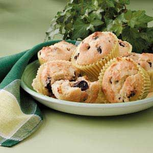 Dried Cherry Muffins Recipe -Try this luscious muffin that stars sweet-tart dried cherries for breakfast or brunch, suggests Sandra Wagner of Chicago, Illinois.