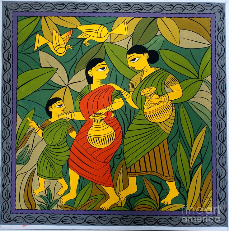 milking cow by jamini roy paintings - Google Search