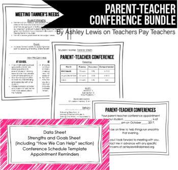 parent teacher conference schedule template