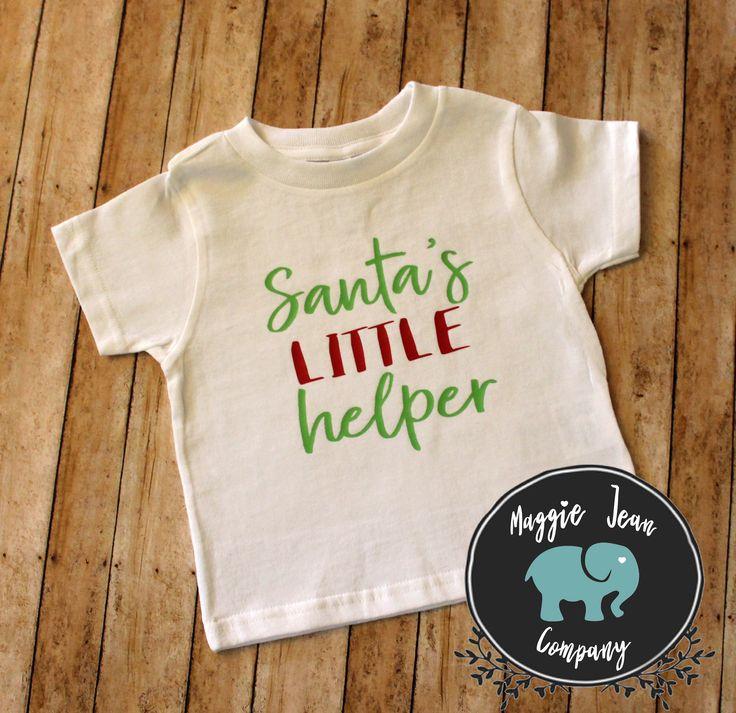 Santa's Little Helper, Christmas Shirt, Kids Christmas Shirt, Youth Christmas Shirt, Cute Christmas Shirt, Youth Shirt, Christmas by MaggieJeanCo on Etsy https://www.etsy.com/listing/549903294/santas-little-helper-christmas-shirt