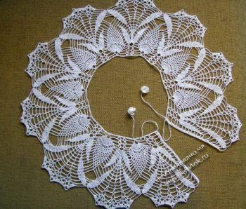 Вязаный крючком воротник — работа Хрушковой Людмилы. Вязание крючком.