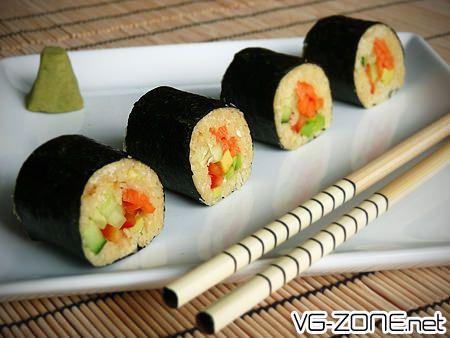 Sushis Makis sans riz / Maki sushi without rice