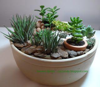 Mini jardim de caqtos,  Eu quero muito!!