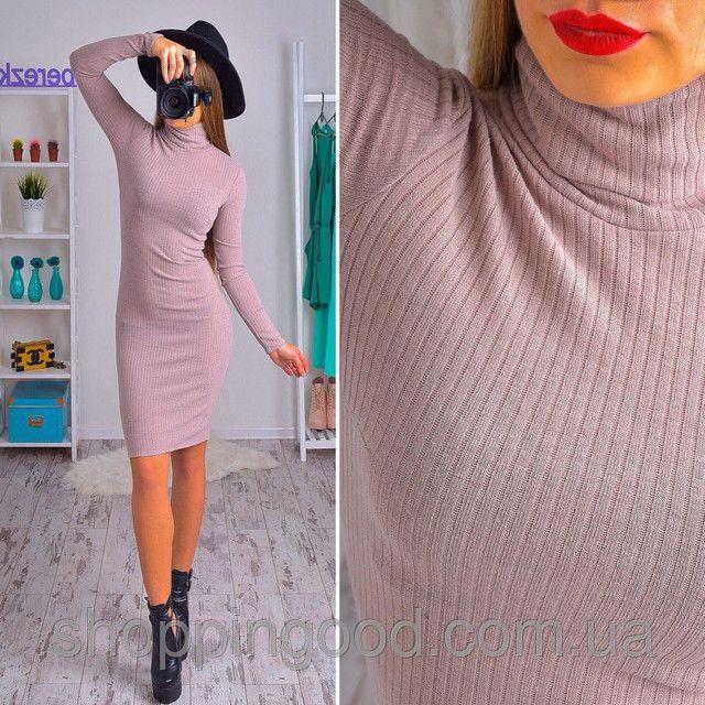 Платье-гольф облегающее ангора рубчик разные цвета SMs724 недорого. Цена со склада.