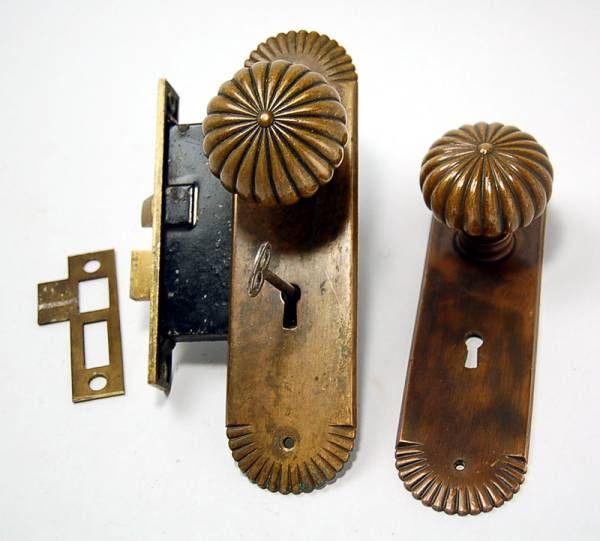 古いガラスドアノブ ゆらゆら アンティーク - 建具 (2) - アンティーク&ブロカント雑貨