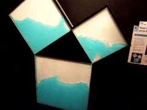 Water Proof of Pythagorean Theorem - this is soooo cool!!! :)