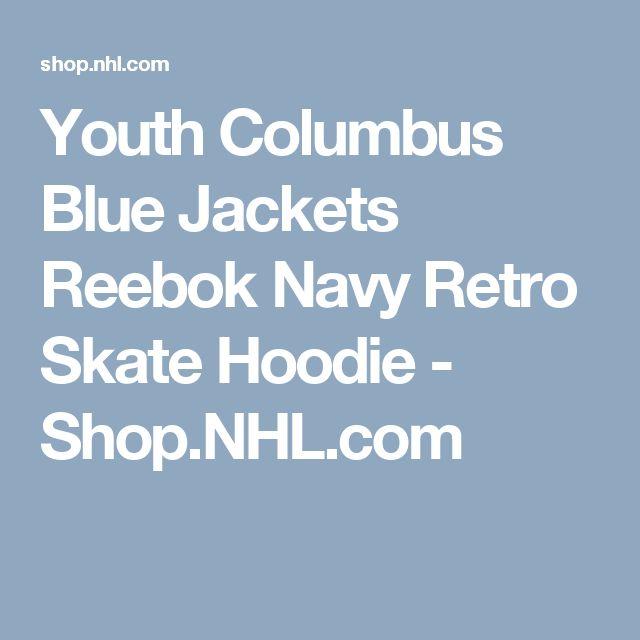 Youth Columbus Blue Jackets Reebok Navy Retro Skate Hoodie - Shop.NHL.com