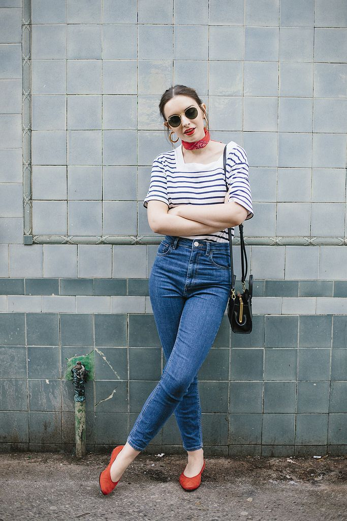 Cannes to Manchester, what olivia did, style, jeans, red, stripes, simple, casual, fashion, summer