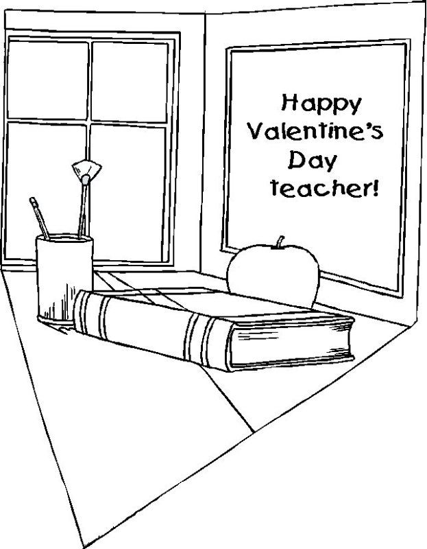 teacher valentine coloring pages - photo#26