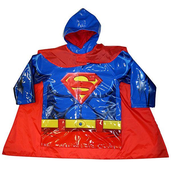Cool Superman raincoat  - I could tell my 5 yo it's a Super*girl* coat.