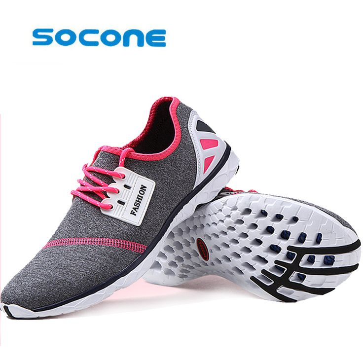 SOCONE Men walking shoes lace up outdoor dmx synthetic breathable vamp light tennis shoes women shoes #Affiliate