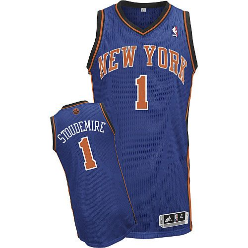 New York Knicks Amare Stoudemire 1 Blue Authentic Jersey Sale