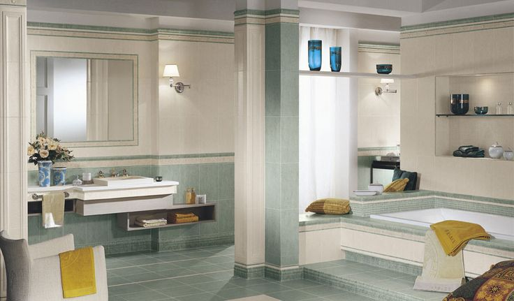 Versace Classic Collection - Celebrity  #bathroom #ceramic #tiles #tile #luxury #blue #gold #yellow