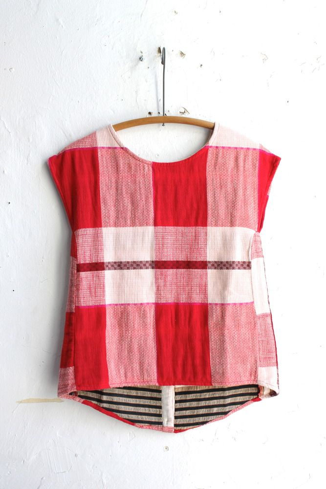 Ace & Jig  Button Back Tee in rouge at Vagabond