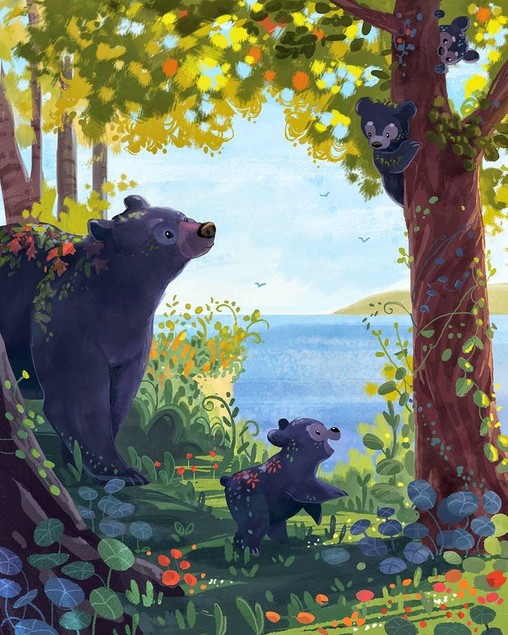 Bear Family by Ariel Silverstein #art
