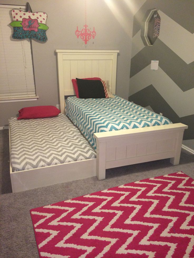 twin farmhouse bed with trundle do it yourself home projects from ana white - Twin Bed Frames For Kids