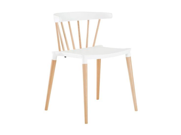 SALOON Stol Hvid/Træ i gruppen Indendørs / Stole / Spisestole hos Furniturebox (200-10-74460)