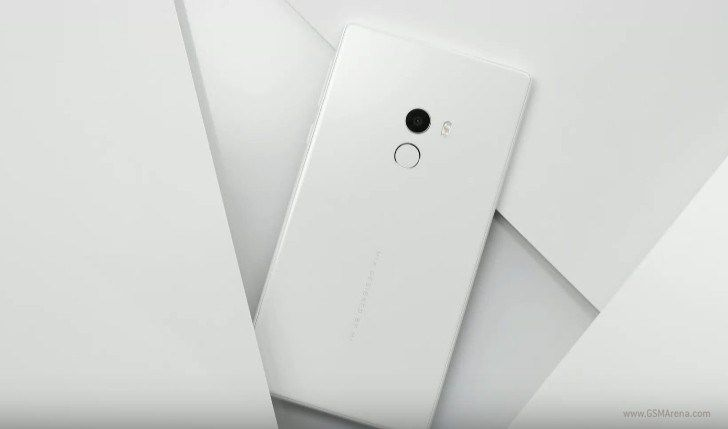 The gorgeous white Mi Mix was unveiled at CES 2017