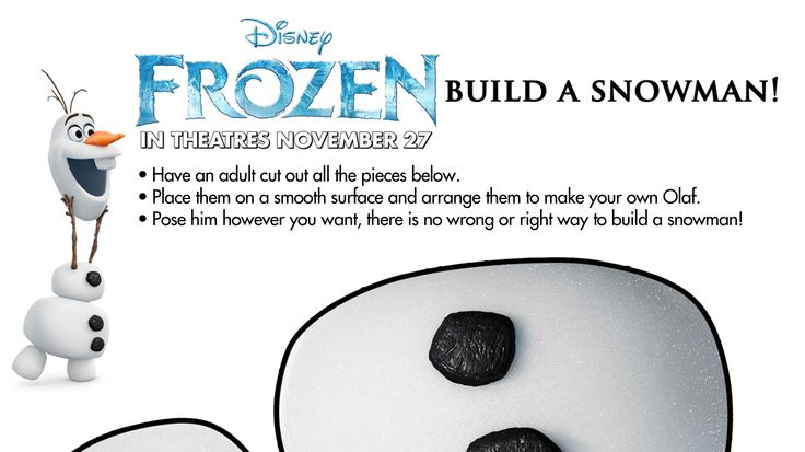 Free printables of Olaf from Disney's Frozen. Do you wanna build a snowman?  Fun activities for kids! Check out our other Disney's Frozen printable activity sheets on our site.