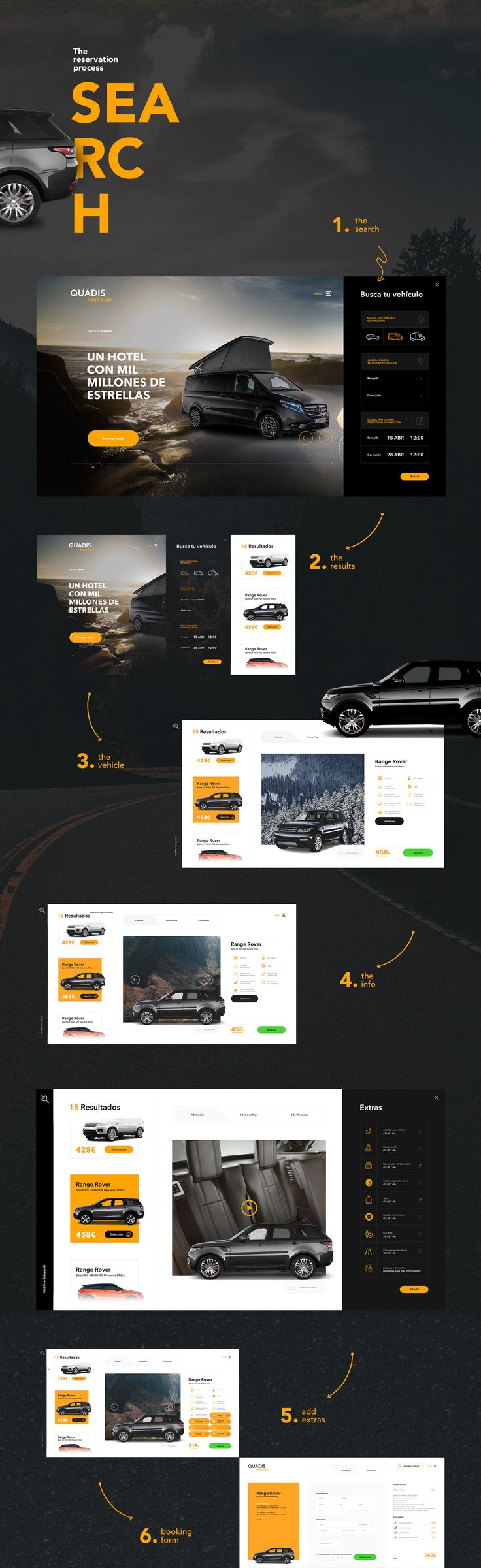 Quadis is a car renting service characterized by its high-end vehicles. The demographic target allowed us to make an elegant and modern design, far from its competitors. Its principal value was to develop a new and more intuitive search method thanks to a…