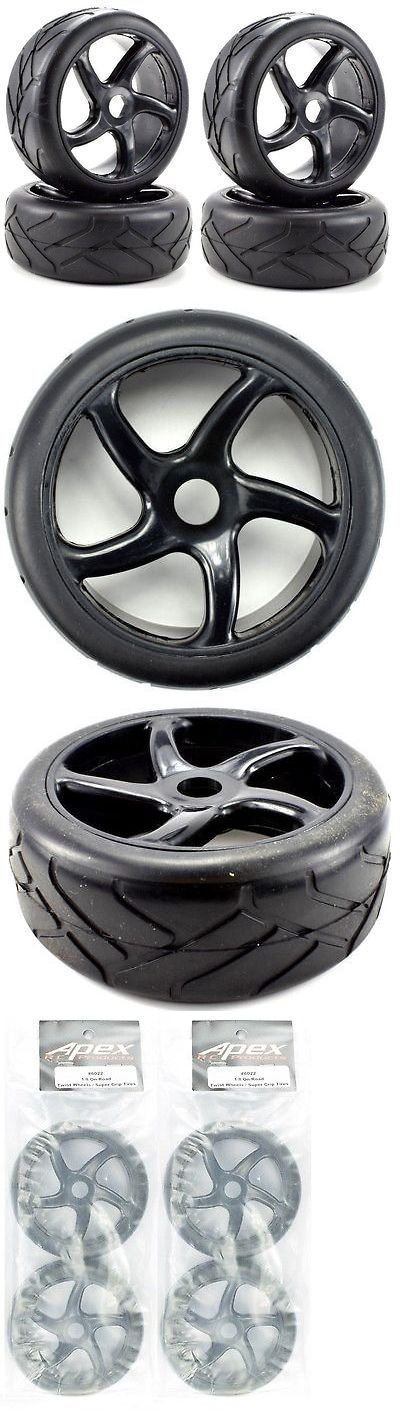 Wheels Tires Rims and Hubs 182201: Apex Rc Products 1 8 On-Road Black Twist Wheels Super Grip Tires #6022 -2 Pack -> BUY IT NOW ONLY: $34.98 on eBay!