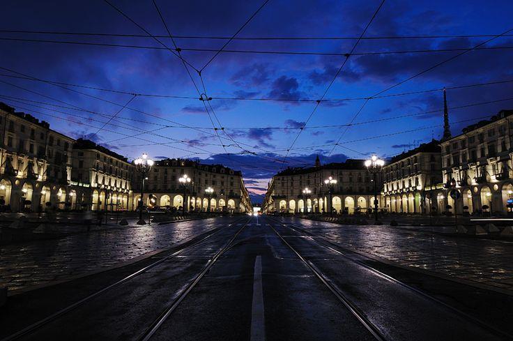 Piazza Vittorio (verso via Po) - Torino