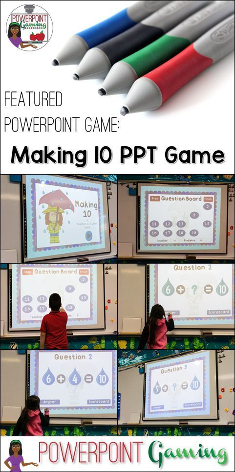 Practicing addition is a basic skill for kindergartners. This games reinforces those skills in a fun, interactive way. This game is a teacher versus student game. The students answer all the questions and if they get the answer correct, they get the point