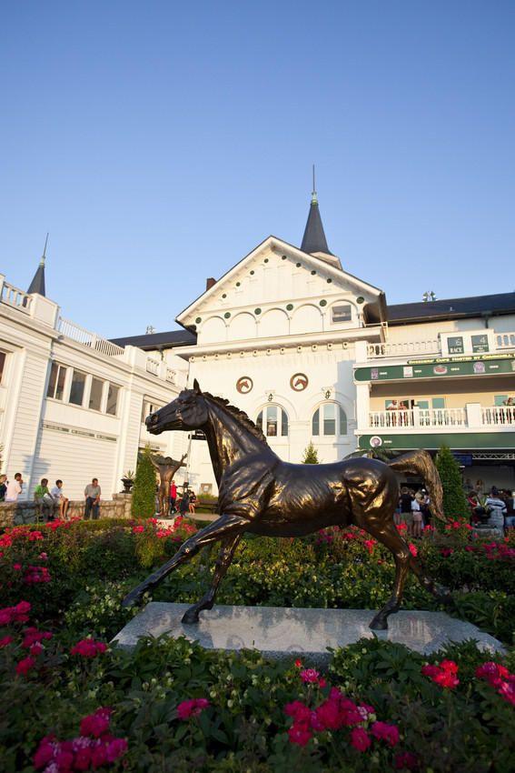 Aristides, 1st Kentucky Derby winner, statue at Churchill Downs