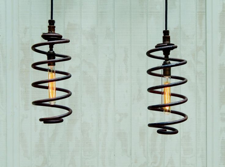 Suspension lampes industrielles paire de par TinkerLighting