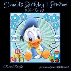 Donalds Birthday 1 Preview on Craftsuprint - View Now!