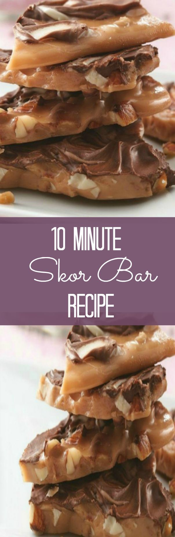 You'll love how easy this 10 Minute SKOR Bar Recipe is. You'll also love the buttery caramel and milk chocolate Tastes just like a SKOR Bar!