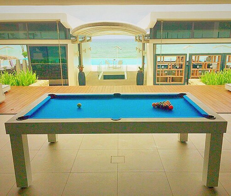 I guess this is not what you imaged when we promised Pool with a View ?? Our mood outdoor pool table in matt white with an electric blue billiard cloth and aramith pool balls !  Outdoor billiards or all weather pool tables, call them what you want, they are absolutely fantastic.  #waterproof #designer #design #katarocks #katarocksphuket #fun #bringfamilyandfriends #mancaves #mancave #gamesroom #poolroom #luxurydesign #luxurythailand #luxurylife #jetset #Thailand #thailandexpat #phuket…
