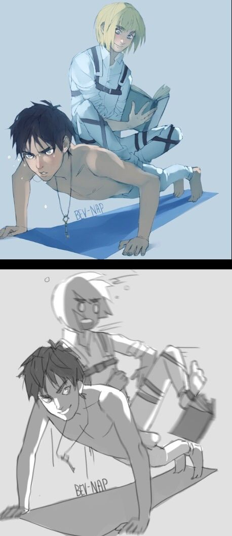 Eren Jaeger and Armin Arlert LOL! By bev-nap @ Tumblr