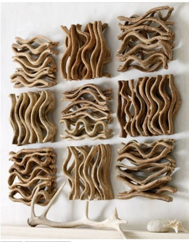 knutselen | driftwood wall art (via pinterest) Door MarthaDormans