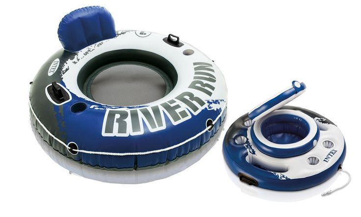 Intex River Run I Inflatable Floating Tube Raft with Mega Chill Cooler #INTEX