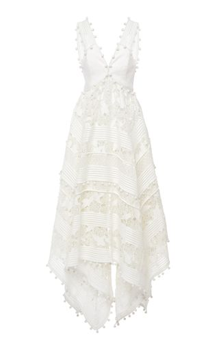 f203607c149 Shop Corsage Embellished Midi Dress. This   Zimmermann   Corsage  Embellished Midi Dress features a romantic handkerchief tiered skirt