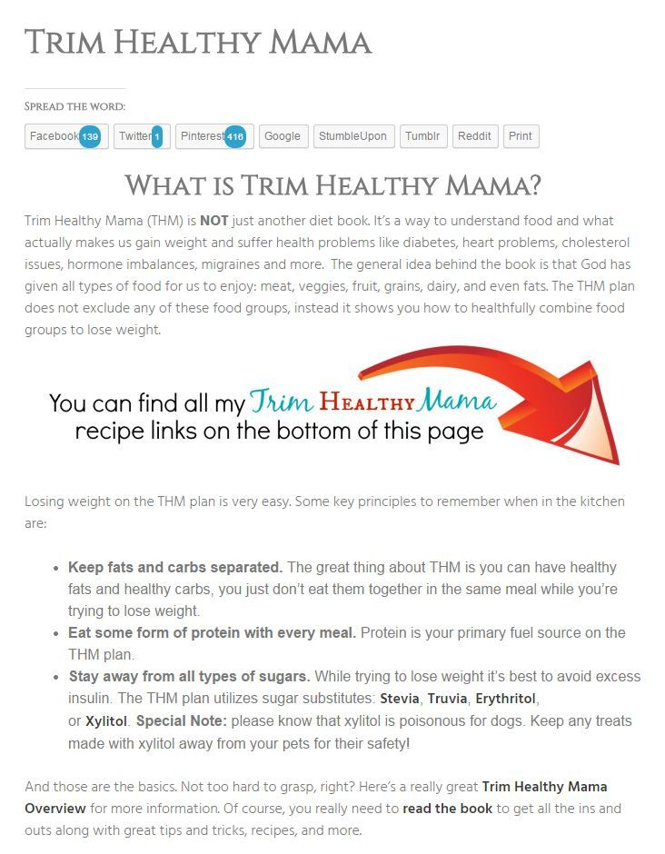 This is an image of Fabulous Trim Healthy Mama Meal Plan