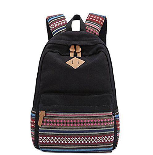 Unisex Fashionable Canvas Zip Bohemia Boho Style Backpack School College Laptop Bag for Teens Girls Boys Students, Black GBTZ http://www.amazon.com/dp/B00M7YADQS/ref=cm_sw_r_pi_dp_3GWKvb0M6VPJQ