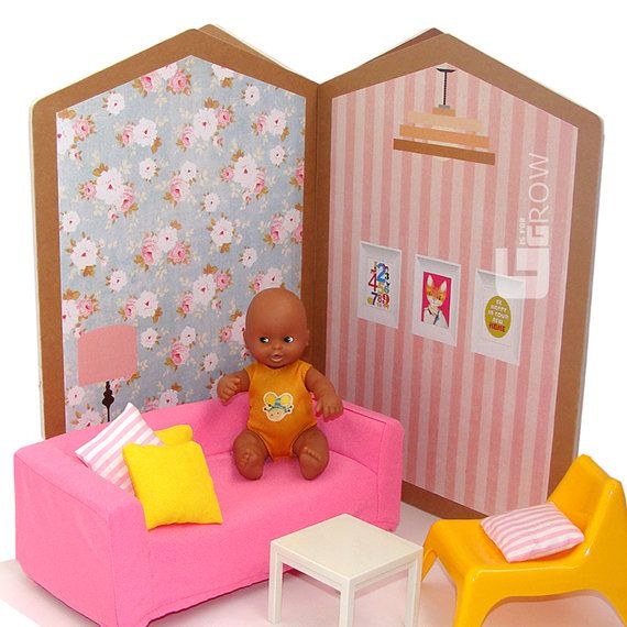 #dollhouse #doll #kit #miniature #toy #house #barriguitas #toplay #babyroom #child #gisforgrow