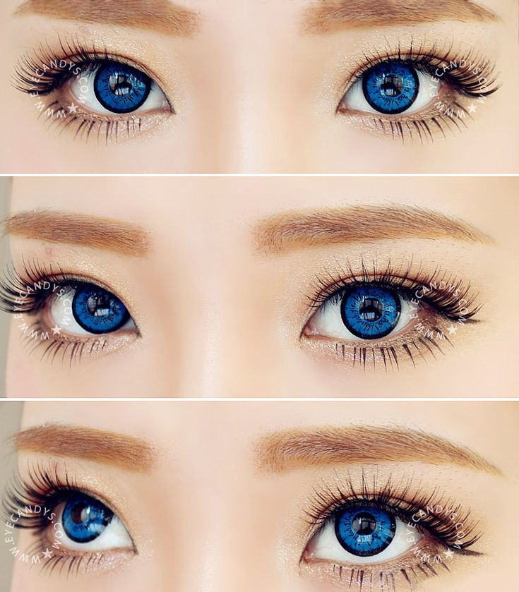 EOS Dollyeye Blue color contact lens big eye circle lens