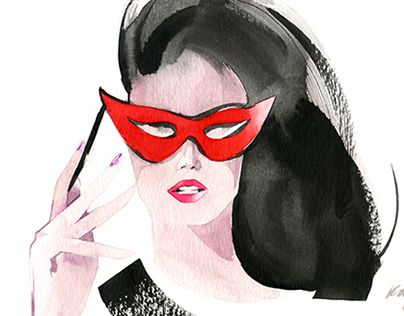"""Check out new work on my @Behance portfolio: """"Fashion Portraits with Watercolor. with Video!"""" http://on.be.net/13ATsrh"""
