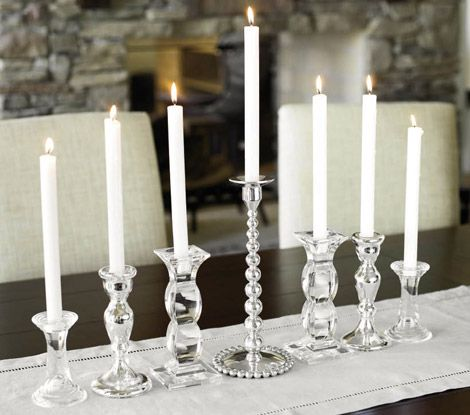 Not very traditional, but this is quite pretty for a menorah