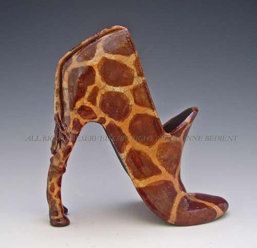 Giraffe Shoe made of Clay