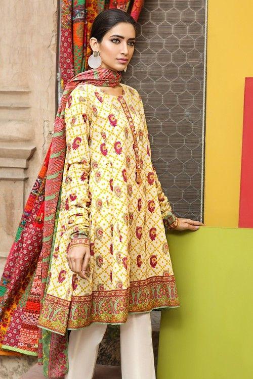 Khaadi 2 Piece Stitched Printed Lawn Suit - L17106-B - Beige - libasco.com    #khaadi #khaadionline #khadiclothes #khaadi2017 #kaadisummer